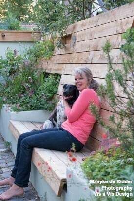 Photo of Elly, with her dog Teske