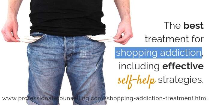 The best treatment for shopping addiction, including effective self-help strategies