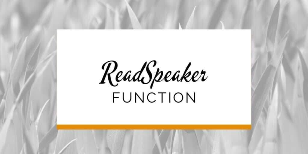 Banner: ReadSpeaker function