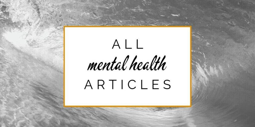 Banner: All mental health articles