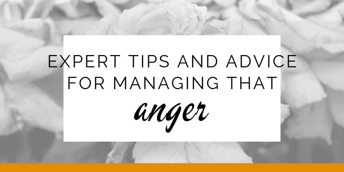 Banner: Expert tips and advice for managing that anger