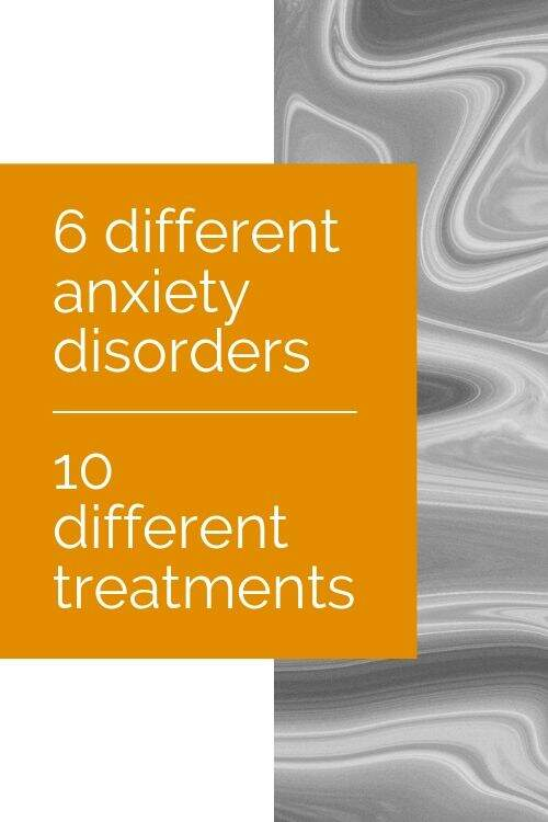 Banner: 6 different anxiety disorders, 10 different treatments