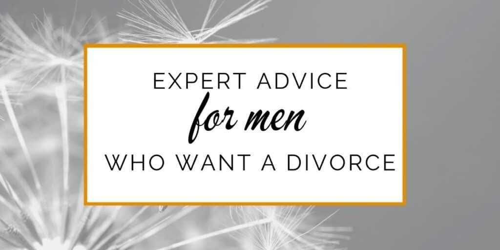 Banner: Expert advice for men who want a divorce