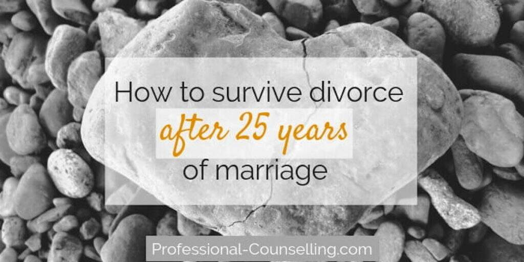 Banner: How to divorce after 25 years of marriage. Professional-counselling.com