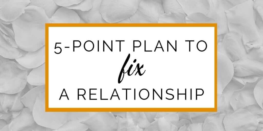 Banner: 5-point-plan to fix a relationship