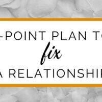 5-point plan to fix your relationship or marriage