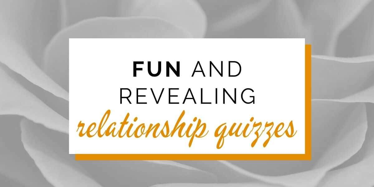 Banner: Fun and revealing relationship quizzes