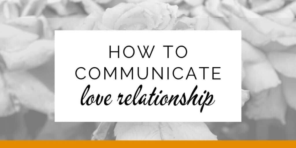 Banner: How to communicate in a love relationship