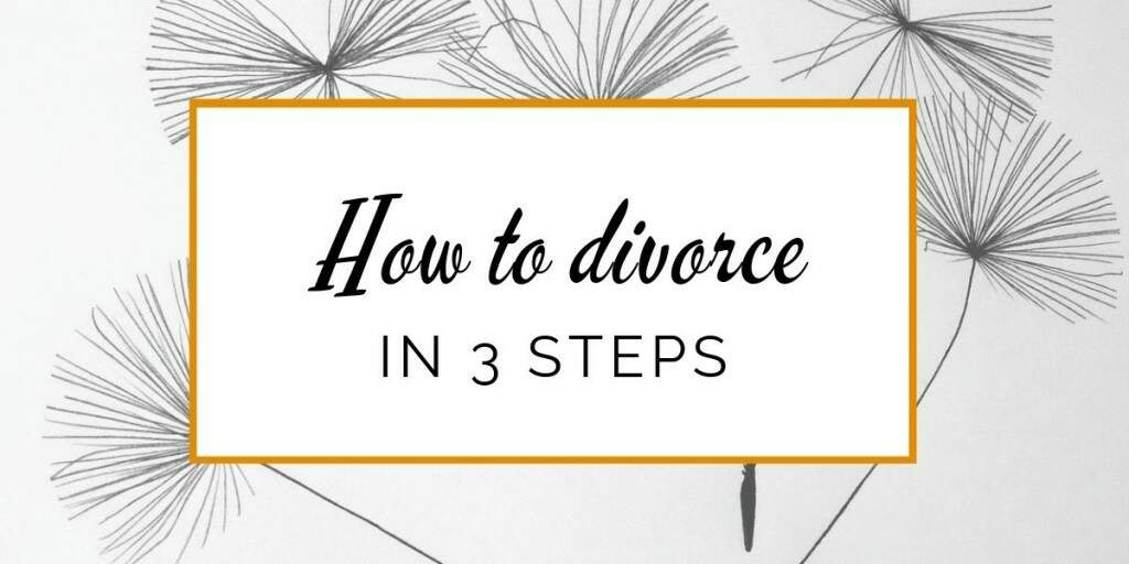 Banner: How to divorce in 3 steps