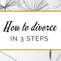 How to divorce in 4 steps