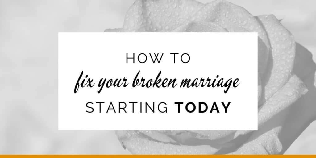 Banner: How to fix your broken marriage starting today