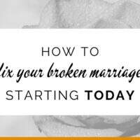 How to fix a broken marriage