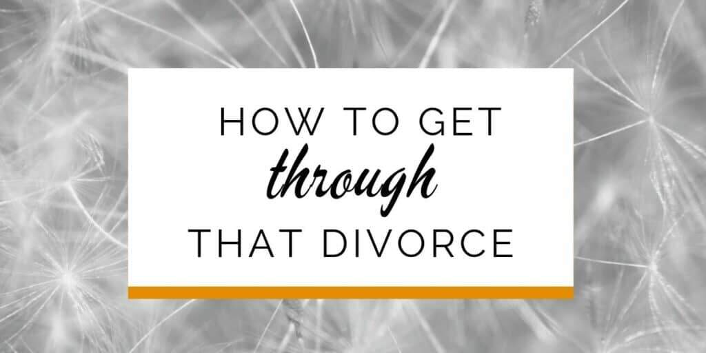 Banner: How to get through that divorce