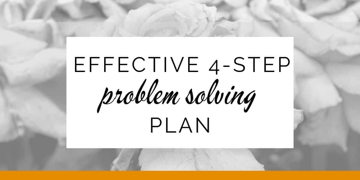 Banner: Effective 4-step problem solving plan