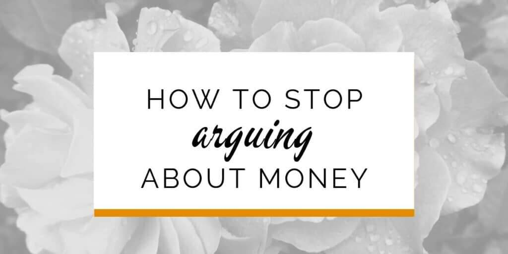 Banner: How to stop arguing about money