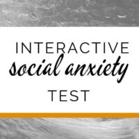 Interactive social anxiety test
