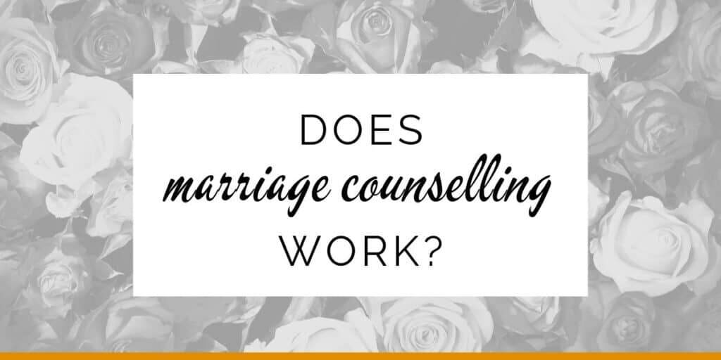 Banner: Does marriage counselling work?
