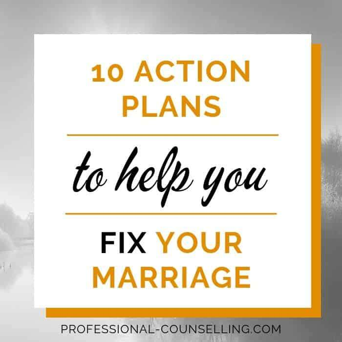 Square banner: 10 action plans to help you fix your broken marriage