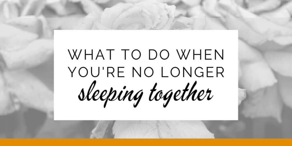 Banner: What to do when you're no longer sleeping together