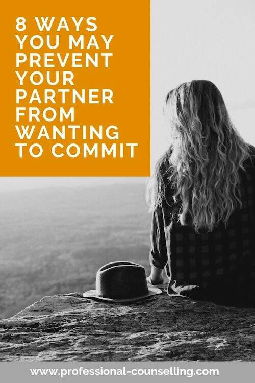 Photo: Girl. Text: 8 ways you may prevent your partner from wanting to commit