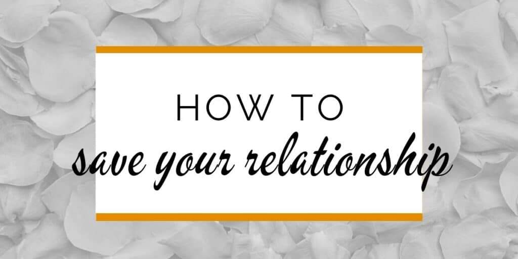 Banner: How to save your relationship