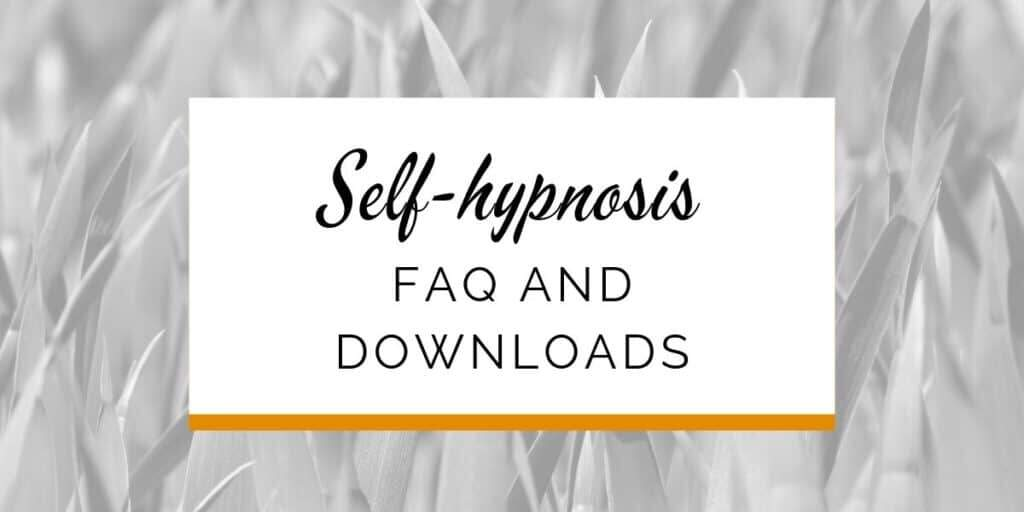 Banner: Self-hypnosis FAQ and downloads