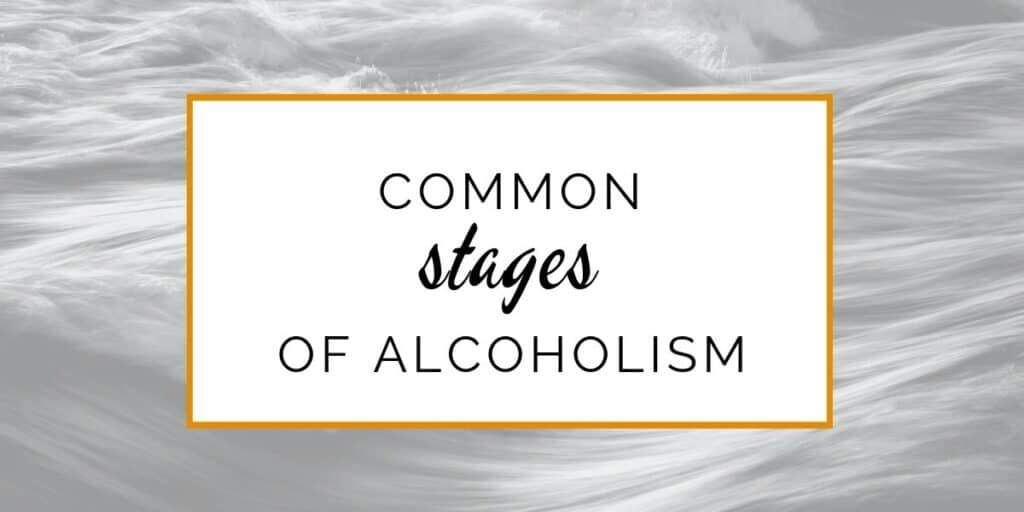 Banner: Common stages of alcoholism