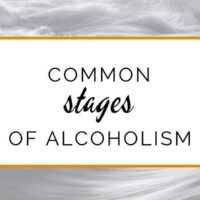 Common stages of alcoholism