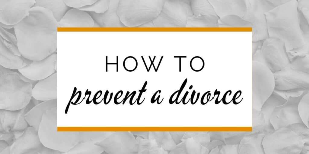 Banner: How to prevent a divorce
