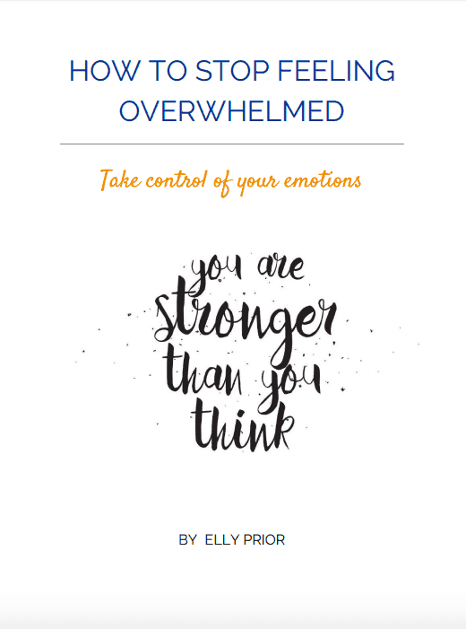 E-cover worksheet: How to stop feeling overwhelmed. Take control of your emotions. You are stronger than you think.