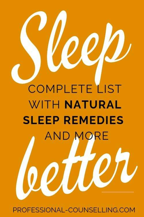 Banner: Sleep better. Complete list with natural sleep remedies and more