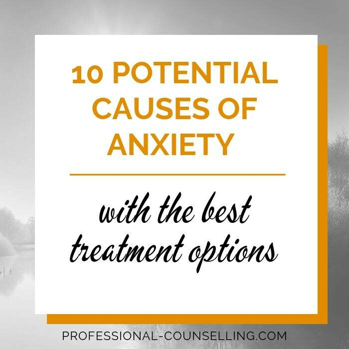 Banner: 10 potential causes of anxiety with the best treatment options