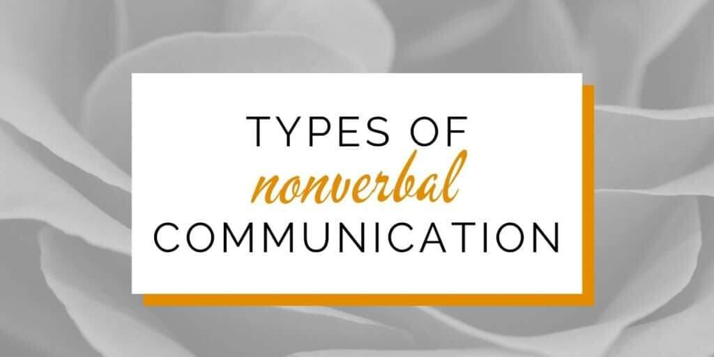 Banner: Types of nonverbal communication