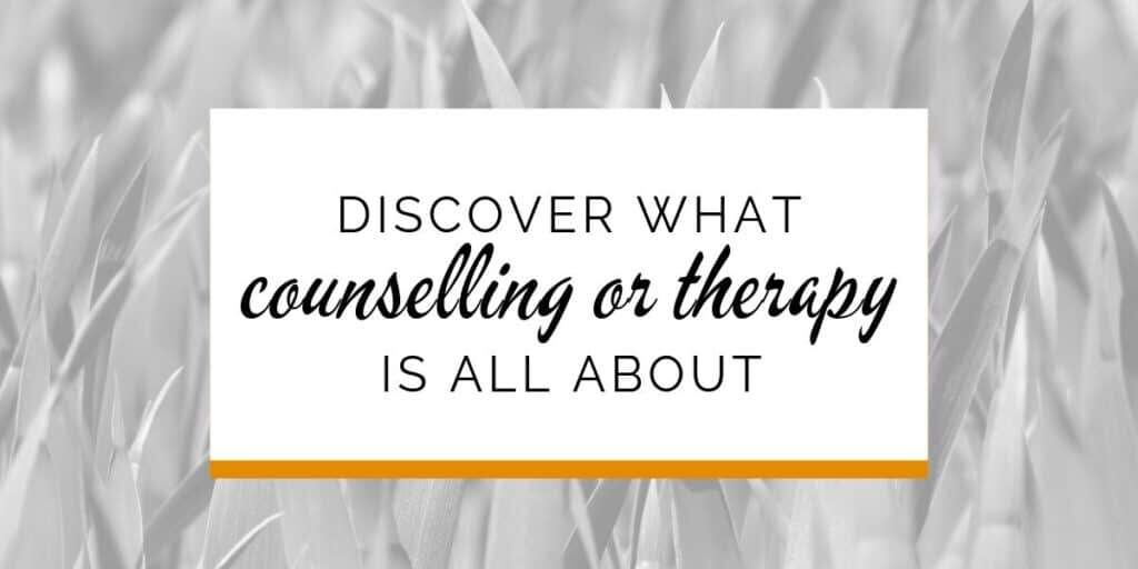 Banner: Discover what counselling or therapy is all about