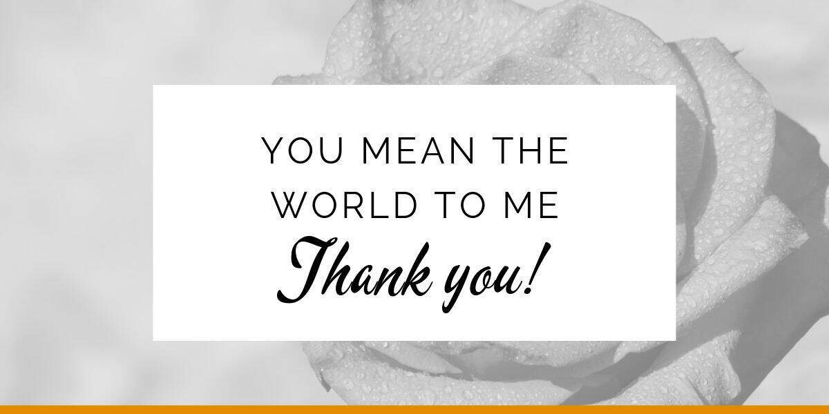 Banner: You mean the world to me. Thank you!